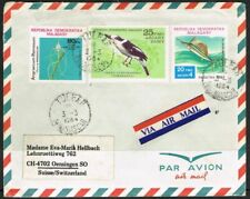 Malagasy/Madagascar 1981-1984. Airmail cover to Switzerland. Birds/Flowers/Fish