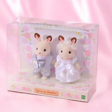 Sylvanian Families CHOCOLATE RABBIT WEDDING SET Epoch Japan New Calico Critters