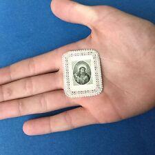 CANIVET Miniature Photo Albumine XIXè Image Pieuse HOLY CARD 19thC Santino