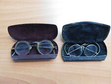 VINTAGE PAIR OF EYE GLASSES WITH CASES DR. ALLEN R. HAMILTON BIG SPRING TEXAS