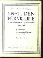 Benda / Wohlfahrt - 105 Etüden für Violine Heft 1