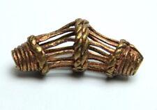 1 pezzi Ashanti Ghana OTTONE PERLE Akan Brass Beads lost wax process