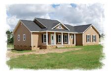 Ranch House Plans 1643 SF 3 Bed 2 Bath Open Floor Split BR (Blueprints) #1008