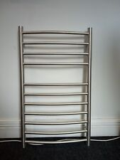 Brushed Stainless Steel Curved Towel Rail 840 x 500