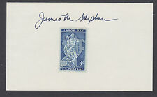 James M. Stephens, Chairman National Labor Relations Board, signed 3x5 card