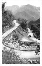 RPPC Switch Back on General's Highway Sequoia National Park, CA Postcard 1952