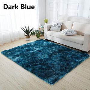 Anti-Slip Decoration Plush Area Rugs Carpet Gradient Color Soft Tie Dye Fluffy