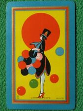 "Art Deco Swap Card ""Carnival Days"" 1928 by U. S. Playing Card Co.Vintage MINT A+"