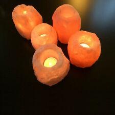 Himalayan Salt Crystal Rock Tea Light Candle Holder Natural Shape Air Ionizer