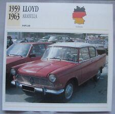 Lloyd Arabella Collectors Classic Cars Card