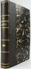 1902*CHARLES DARWIN*ORIGIN OF SPECIES*EVOLUTION*JOHN MURRAY*FRENCH*F483*40-47k*