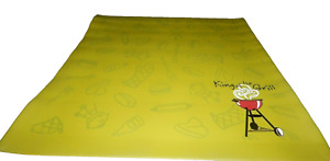"""BBQ Gas Grill RUBBER Mat Pad Floor Protective Rug Outdoor 36"""" x 36"""""""