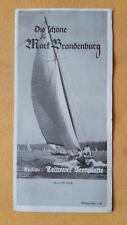 altes Reise Prospekt Die schöne Mark Brandenburg, Teltower Seenplatte, 1935
