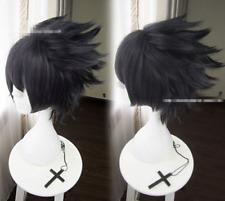 Naruto Sasuke Uchiha Wig Mixed Colors Short 30CM Layered Cosplay Anime Wigs