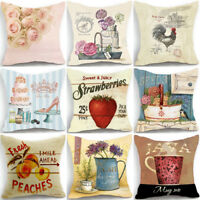 18'' lovely Style Cotton Linen Pillow Case Waist Cushion Cover Throw Home Decor