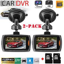 Full HD 1080P Car Dash DVR Camera Video Recorder Cam Night Vision G-Sensor 2Pack
