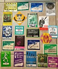 Lot of 22 vintage 70's/80's B/S passes: Rush, Beach Boys, Eagles, Billy Joel, ++