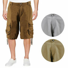 Men's Relaxed Fit Multi Pocket Cotton Casual Military Cargo Shorts