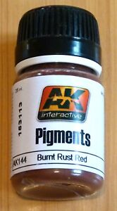 AK Interactive Pigments Burnt Rust Red Pigment For Models