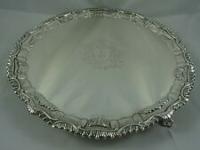 More details for superb george iii solid silver salver, 1765, 958gm