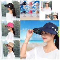 Women Visor Hat Summer Sun Beach Ladies Wide Brim Cap Free Shipping-!