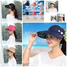 Women Visor Hat Summer Sun Beach Ladies Wide Brim Cap Free Shipping-~