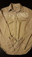 Vintage 80s Womens Girls Fashion Place Western Pearl Snap Shirt Rockabilly 052