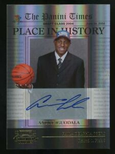 2010-11 Playoff Contenders Place In History Andre Iguodala Signed AUTO 45/49