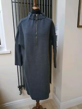 MARNI Ladies Grey Cotton Long Sleeve Crew Neck  Dress IT46/14 New with tag