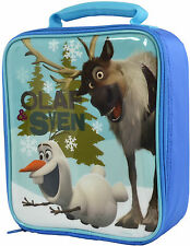 Disney Frozen | Olaf and Sven | Blue Insulated School Lunch Bag | Lunch Box