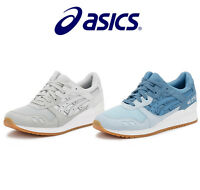 ASICS Unisex Trainers, Blue or Grey, Gel-Lyte III, Leather, Lace Up Sport Shoes