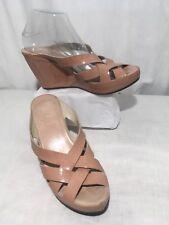 f170578ad20 AGL Attilio Giusti Leombruni Nude Women s Platform Wedge Heel Sandals  Sz40 US 10