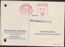 LEIPZIG, Postkarte 1961, Reinhold Mothes Chemisch-technische Erzeugnisse