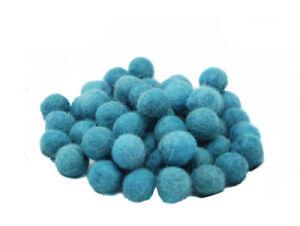 10 Perles Boules de Feutre Feutrine naturelle Ø1.5 cm NEPAL BLEU VERT