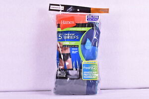 Men's Hanes 5 Pk Sport Styling Cool Dri Tagless Briefs, Orange, Blue, Grey, 2XL