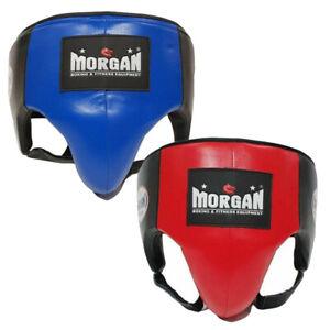 Boxing Platinum Leather Abdo Groin Guard Protector - Boxing MMA - Morgan Sports