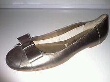 Ladies bronze flat shoes size 5 M&S