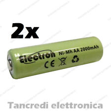 2x BATTERIA AA Stilo 2000 mAh Rechargeable Accu Mignon Ready 2 use pila nimh 2Ah