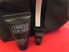 Clinique for men anti age eye cream 7ml, anti age moisturizer 30ml & bag set