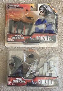 "Bandai Godzilla & Muto Packs Of Destruction 2014 3.75"" Action Figures"