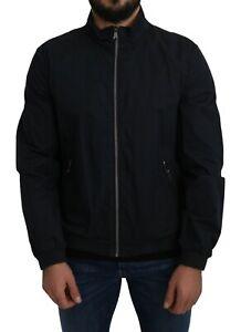 GEOX RESPIRA Jacket Blue Solid Windbreaker s. EU50 / US40 / L RRP $600