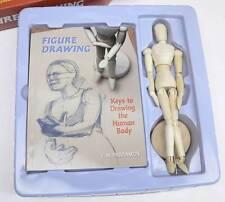 Figure Drawing Book Human Body + Wood Figure Manikin Mannequin Gift Set Art