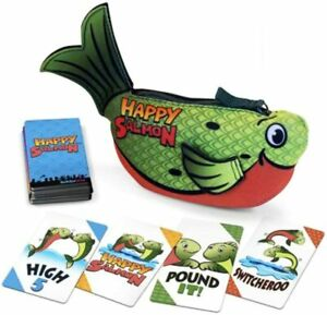 Happy Salmon | Family Card Game | Official Green Version | 6 Player Party Game