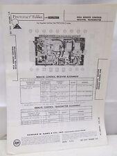 Sams Photofact Folder Radio Parts Manual MGA Remote Control Receiver Transmitter