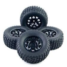 4X 107mm RC 1:10 Short Course Tires Wheel Rims 12mm Hex For TRAXXAS SlASH Truck