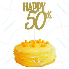 happy 50th cake toppers anniversary party supplies birthday party decoration WO