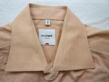 E7915 Olymp Luxor Businesshemd Kombimanschette 41 apricot meliert Unifarben