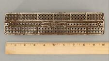 Antique 19thC LeCount Nickled Cast Iron Cribbage Game Board No Reserve!