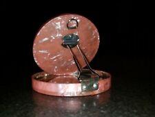 Vintage Pink Celluloid Vanity Compact Mirror Japan