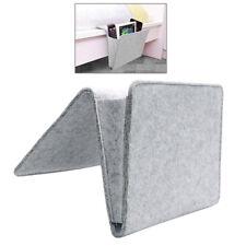 Bedside Pocket Caddy Storage Organizer Bed Organizing Desk Sofa Holder Grey 1PC